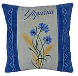 Эксклюзивная подушка автомобильная с украинской вышивкой, фото 2