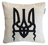 Дизайнерская подушка автомобильная с вышивкой ромашек, фото 7