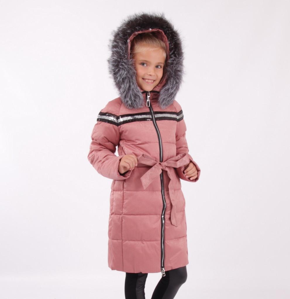 Детский зимний пуховик для девочки от Lusiming 91803, 116-140 (розовый)