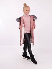 Детский зимний пуховик для девочки от Lusiming 91803, 116-140 (розовый), фото 3