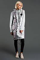Теплое платье худи на синтепоне / плащевка, синтепон, трехнитка / Украина 47-3099, фото 1