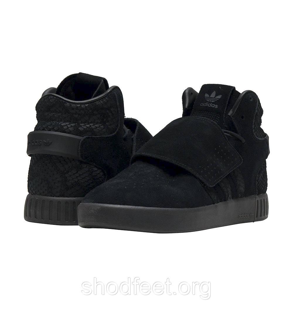 Мужские кроссовки Adidas Originals Tubular Invader Strap Triple Black