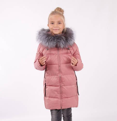 Детский зимний пуховик для девочки от Lusiming 91811, 116-140 (розовый)
