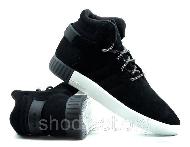 Мужские кроссовки Adidas Tubular Invader Core Black Vintage White