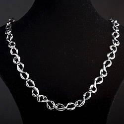 Колье Бесконечность цвет металла серебро