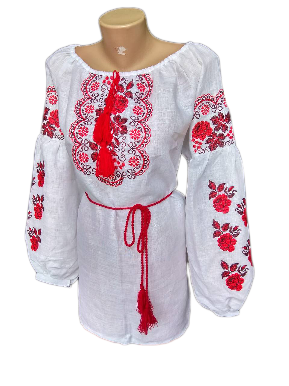 "Жіноча вишита сорочка (блузка) ""Ренді"" (Женская вышитая рубашка (блузка) ""Ренди"") BT-0038"