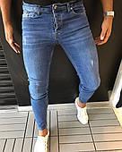 Джинсы мужские Zara Зара синие классические (реплика)