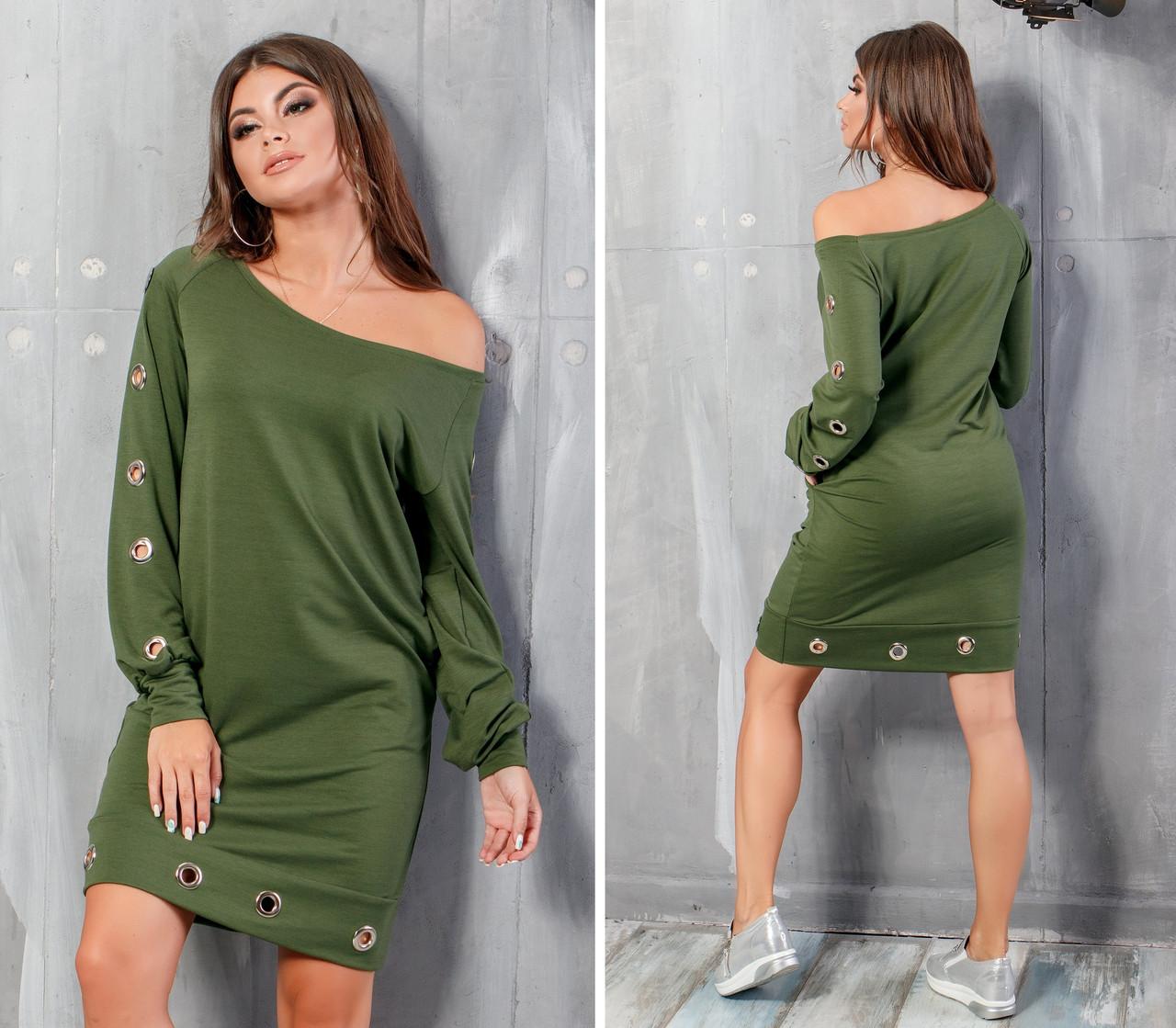 Платье с люверсами