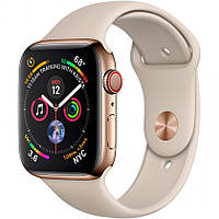 Смарт-часы Apple Watch Series 4 GPS + Cellular 44mm Gold Stainless Steel Case with Stone Sport Band (MTV72)