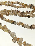 Бусы длинные Кварц Волосатик, натуральный камень, длина 100 см, тм Satori \ Sk - 0071, фото 2