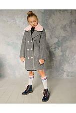 Детское пальто демисезонное для девочки vpd-5 мех кролик, размеры 122-152, фото 2
