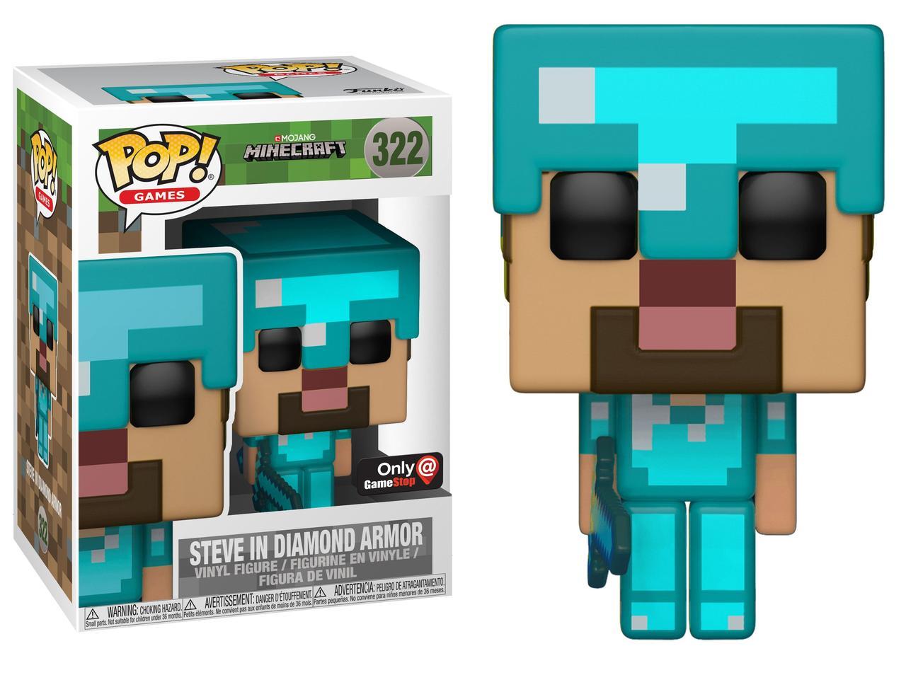 Фигурка Funko Pop  Minecraft: Steve in Diamond Armor