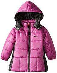 Теплая удлиненная куртка с капюшоном на флисе еврозима (Размер 6-7Т) PUMA