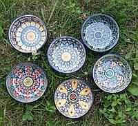 Узбекская пиала универсальная ручной работы d 11 см. Керамика