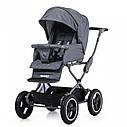 Универсальная коляска серая Tilli Family 2в1 люлька прогулочный блок матрасик москитная сетка дождевик, фото 4