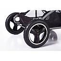 Универсальная коляска серая Tilli Family 2в1 люлька прогулочный блок матрасик москитная сетка дождевик, фото 5