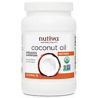 Nutiva, Органическое кокосовое масло, рафинированное, 15 жидких унций (444 мл)