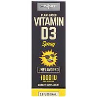 Onnit, Vitamin D3 Spray, Unflavored, 1000 IU, 0.8 fl oz (24 ml)