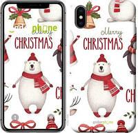 """Чехол на iPhone X Merry Christmas """"4106c-1050-571"""""""