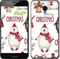 "Чехол на Meizu M3e Merry Christmas ""4106u-607-571"""