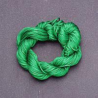 Нить шнур для шамбалы Зеленый моток 25 м, диаметр 1мм