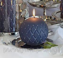 Свеча 10 х 10 cм черный шар Florencja Artman