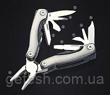 Брелок набор инструментов плоскогубцы отвертка нож открывалка