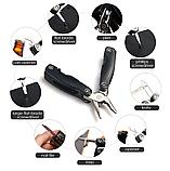Брелок набор инструментов плоскогубцы отвертка нож открывалка, фото 6