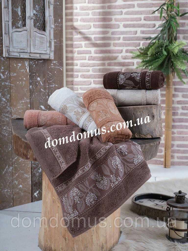 """Махровое полотенце """"Karanfil Yapragi"""" 50*90 см SWEET  DREAVS, 6 шт./уп.,Турция"""
