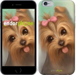 """Чехол на iPhone 6 Нарисованный йоркширский терьер """"928c-45-571"""""""