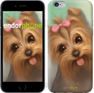 """Чехол на iPhone 6 Plus Нарисованный йоркширский терьер """"928c-48-571"""""""