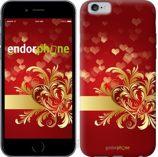 "Чехол на iPhone 6 Ажурные сердца ""734c-45-571"""