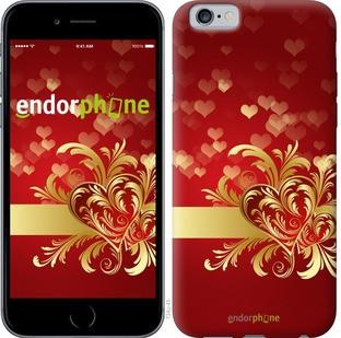 """Чехол на iPhone 6s Ажурные сердца """"734c-90-571"""""""