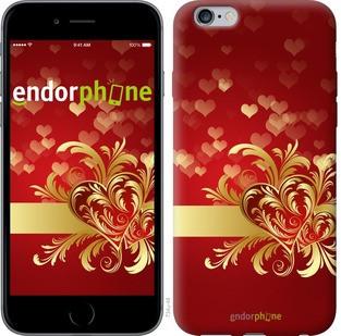 """Чехол на iPhone 6 Plus Ажурные сердца """"734c-48-571"""""""
