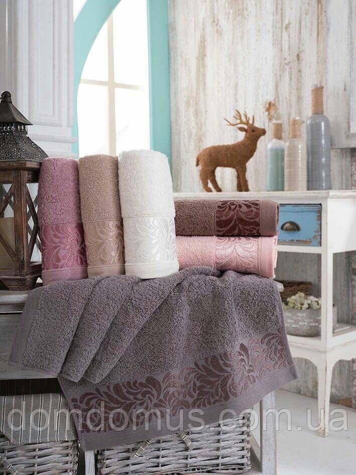 Махровое полотенце 50*90 см SWEET  DREAVS, 6 шт./уп.,Турция