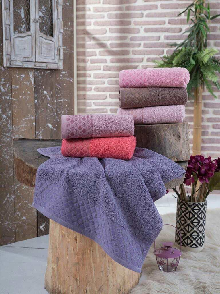 """Махровое полотенце """"Ромб""""  70*140 см SWEET  DREAVS, 6 шт./уп.,Турция"""