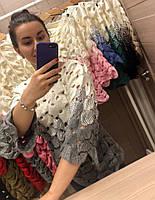 Нежный воздушный ажурный свитер