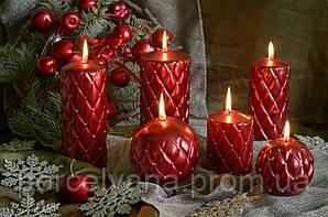Свеча 12 х 12 cм шар новогодний Florencja Artman