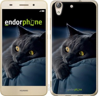 "Чехол на Huawei Y6 II Дымчатый кот ""825c-338-571"""