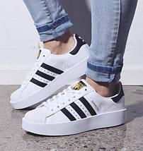 Женские кроссовки в стиле Adidas Superstar Bold, фото 2