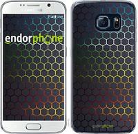 "Чехол на Samsung Galaxy S6 G920 Переливающиеся соты ""498c-80-532"""