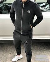 Мужской спортивный костюм велюровый зимний  никн709, фото 1