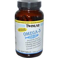 Twinlab, Омега-3 рыбий жир, 100 мягких капсул
