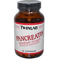 Twinlab, Панкреатин, 50 капсул