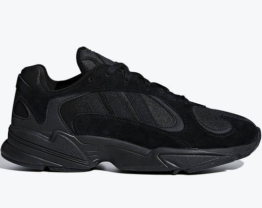 Мужские и женские кроссовки Adidas Yung-1 Black, фото 2