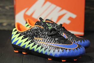 Футбольные Бутсы Nike Mercurial CR7(черно-синие) 1000(реплика)
