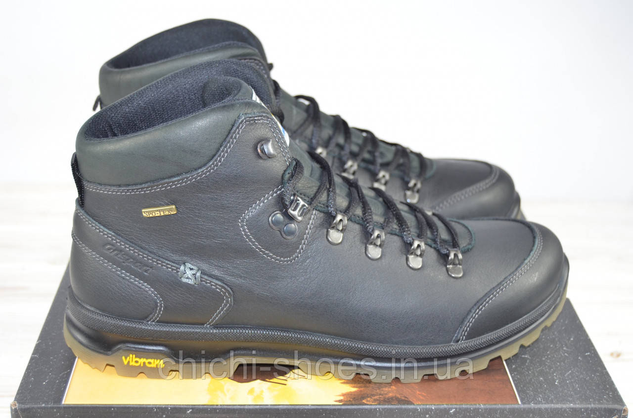 9ac662a8e Мужские ботинки итальянской фирмы Гриспорт чёрные кожа 12917-23 ...