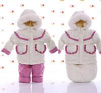 Зимняя детская одежда для девочки комбинезон и конверт