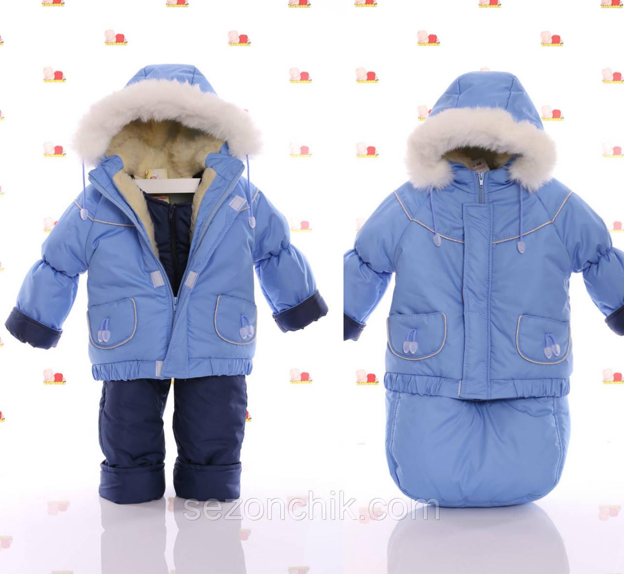Зимний комбинезон для девочки зимний с мехом на капюшоне