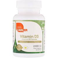 Zahler, Витамин D3, улучшенная формула D3, 2000 МЕ, 250 мягких таблеток